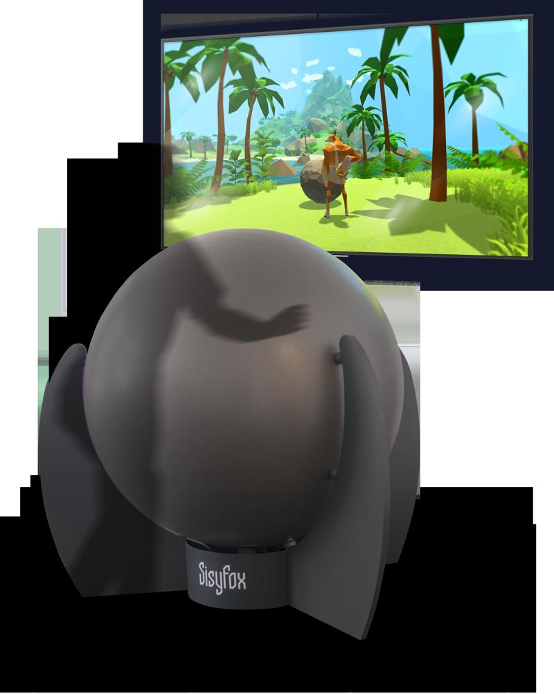 balle géante interactive sisyfox